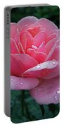 Rain Sprinkled Rose Portable Battery Charger
