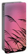 Rainbow Batik Sea Grass Gradient Silhouette Portable Battery Charger