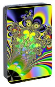 Rainbow Butterfly Bouquet Fractal 56 Portable Battery Charger