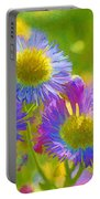 Rainbow Colored Weed Daisies Portable Battery Charger