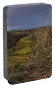 Rainbow Over The Rio Pueblo Portable Battery Charger