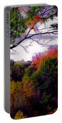 Rainbow Treetops Portable Battery Charger by DigiArt Diaries by Vicky B Fuller