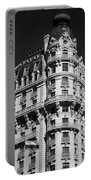 Rainbows And Architecture In Black And White Portable Battery Charger