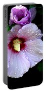 Raindrops On Roses Of Sharon Portable Battery Charger