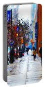 Rainy Day Feeling Portable Battery Charger by Bill Cannon