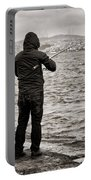 Rainy Day Fishing Portable Battery Charger