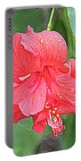 Rainy Day Hibiscus Portable Battery Charger