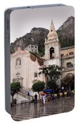 Rainy Day In Taormina Portable Battery Charger