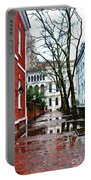 Rainy Philadelphia Alley Portable Battery Charger by Bill Cannon