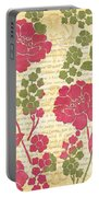 Raspberry Sorbet Floral 1 Portable Battery Charger