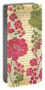 Raspberry Sorbet Floral 2 Portable Battery Charger