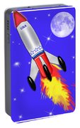 Really Cool Rocket In Space Portable Battery Charger