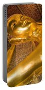 Reclining Buddha At Wat Pho, Low Angle Portable Battery Charger