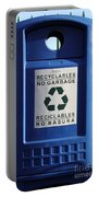 Recycling Bin Portable Battery Charger by Photo Researchers, Inc.