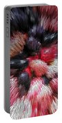 Red And Black Explosion #01 Portable Battery Charger