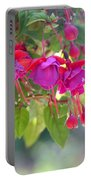 Red And Purple Fuchsias Portable Battery Charger