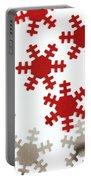 Red And Silver Snowflakes Portable Battery Charger