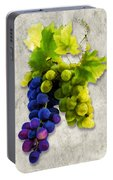 Red And White Grapes Portable Battery Charger
