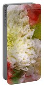Red And White Mums Photoart Portable Battery Charger