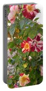 Red And White Roses 3 Portable Battery Charger