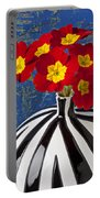 Red And Yellow Primrose Portable Battery Charger