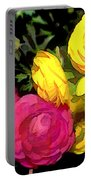 Red And Yellow Ranunculus Flowers Portable Battery Charger