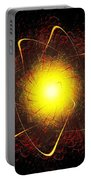Red And Yellow Star Portable Battery Charger