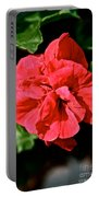 Red Begonia Portable Battery Charger
