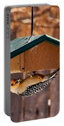 Red-bellied Woodpecker At Lunch Portable Battery Charger