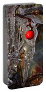 Red Berry In Icicle Portable Battery Charger