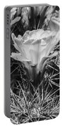 Red Cactus Flower Bw Portable Battery Charger