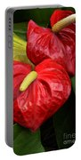 Red Calla Lily Portable Battery Charger