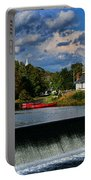 Red Canoes At The Boathouse Portable Battery Charger by Paul Ward