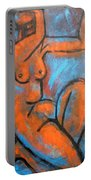 Red Caryatid - Nudes Gallery Portable Battery Charger