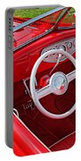Red Classic Car Portable Battery Charger