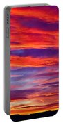 Red Clouds Dawn With Mount Rainier Portable Battery Charger