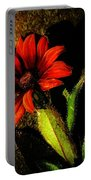 Red Coneflower Portable Battery Charger