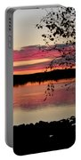 Red Evening Sky Portable Battery Charger