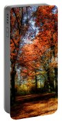 Red Fall Portable Battery Charger