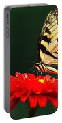 Red Flower And Butterfly Portable Battery Charger