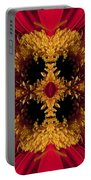 Red Flower Art Portable Battery Charger