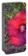 Red Flower Portable Battery Charger