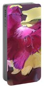 Red Flower In The Abstract Portable Battery Charger