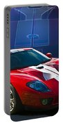 Red Ford Gt40 Portable Battery Charger