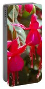 Red Fuchsias Portable Battery Charger