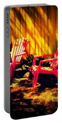Red Garden Chairs Portable Battery Charger