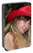 Red Hat And A Blonde Portable Battery Charger