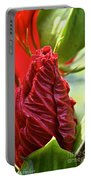Red Hibiscus Torch Portable Battery Charger