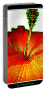 Red Hibiscus With Special Effects Portable Battery Charger