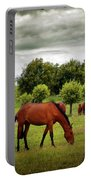 Red Horses Portable Battery Charger